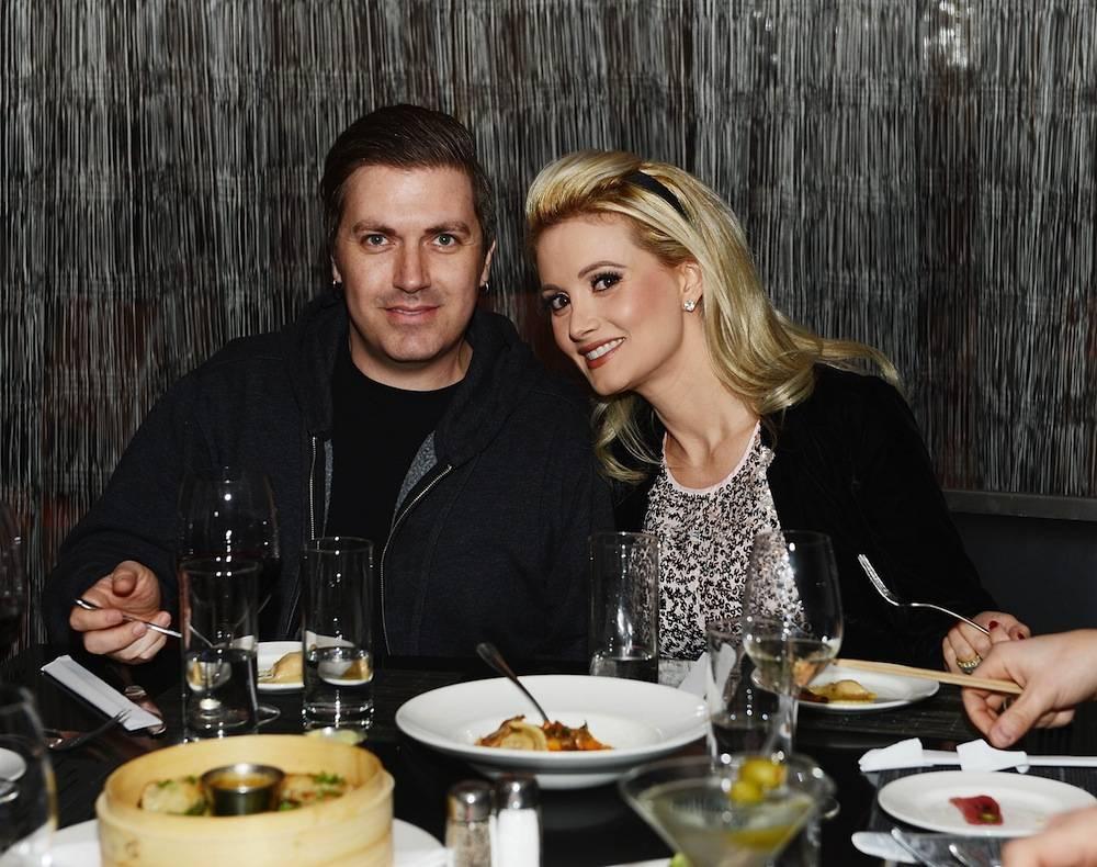 Holly Madison Enjoys Her Birthday Dinner At N9NE Steakhouse Inside Palms Casino Resort