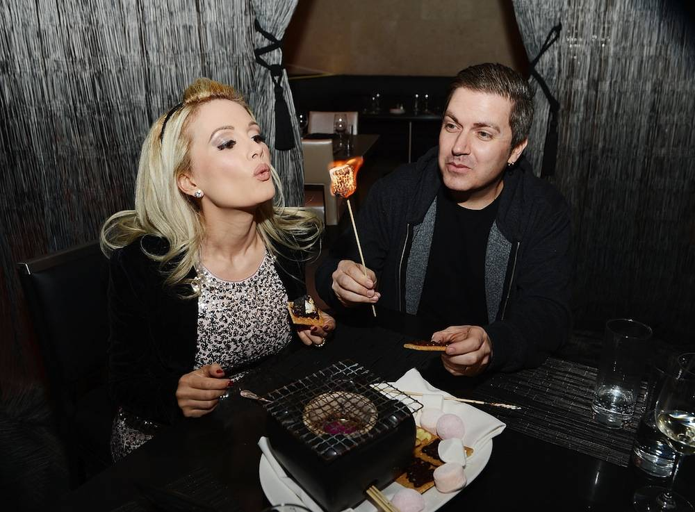 Holly Madison Enjoys Her Birthday Dinner At N9NE Steakhouse Inside Palms Casino Resort
