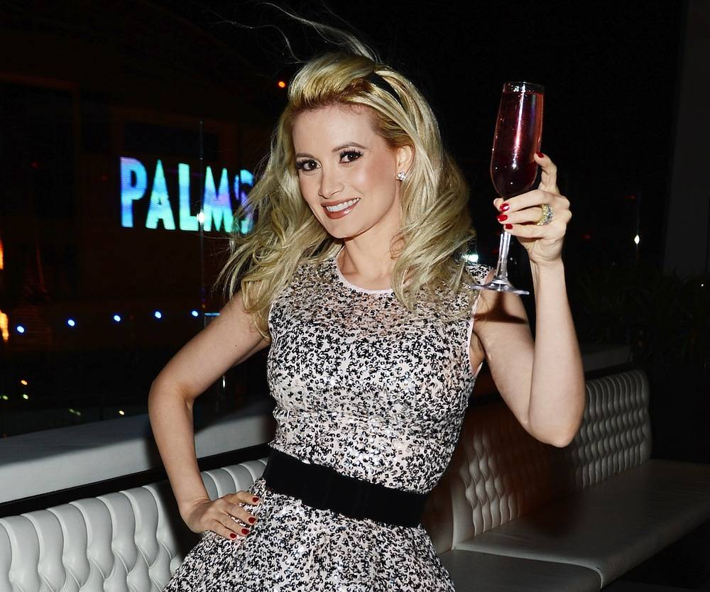 Holly Madison Toasts Her Birthday At Ghostbar Inside Palms Casino Resort
