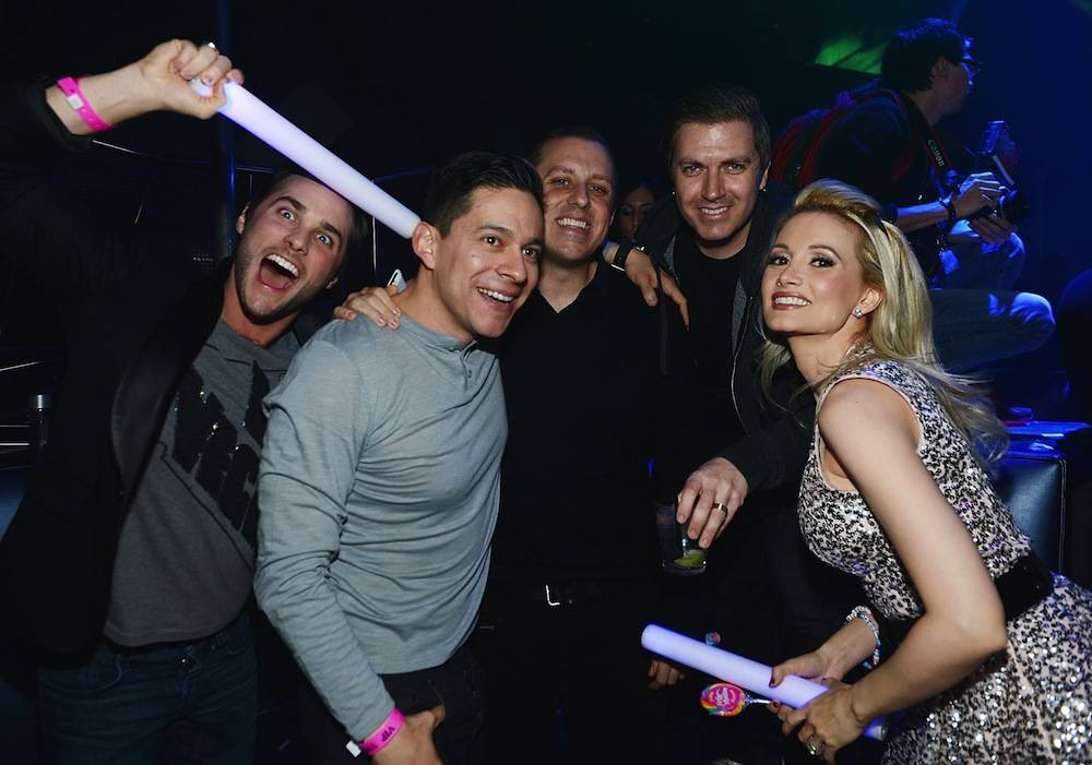 Holly Madison's Birthday Party At Moon Nightclub Inside Palms Casino Resort