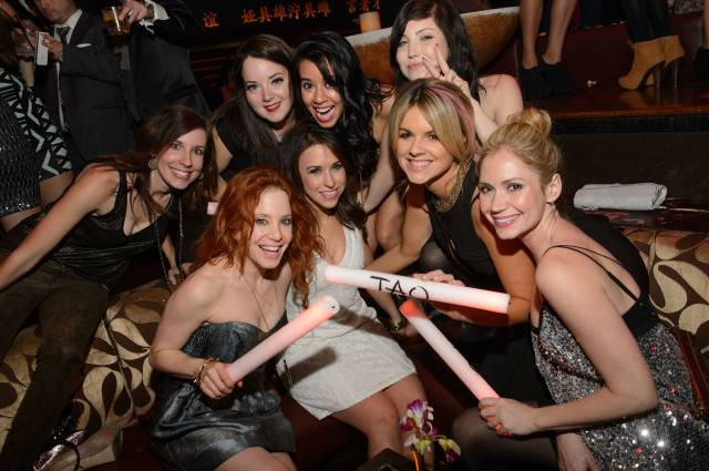 Amy Davidson, Lacey Chabert and Ali Fedotowsky at Tao Nightclub. Photos: Al Powers/Powers imagery
