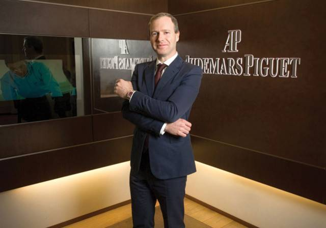 Xavier Nolot, CEO of Audemars Piguet North America at the Audemars Piguet boutique in New York