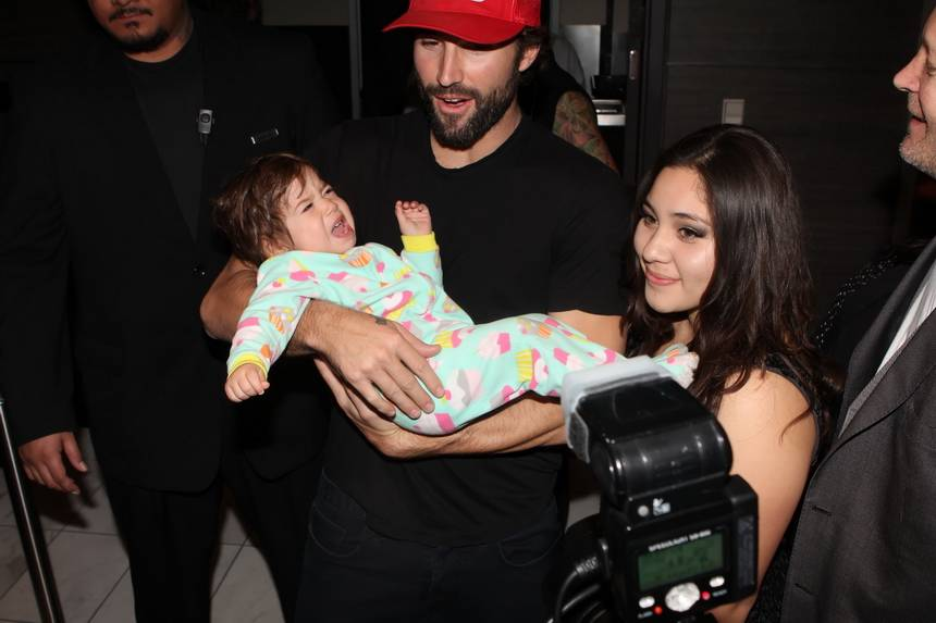 Brody Jenner and Baby in Palms lobby-1