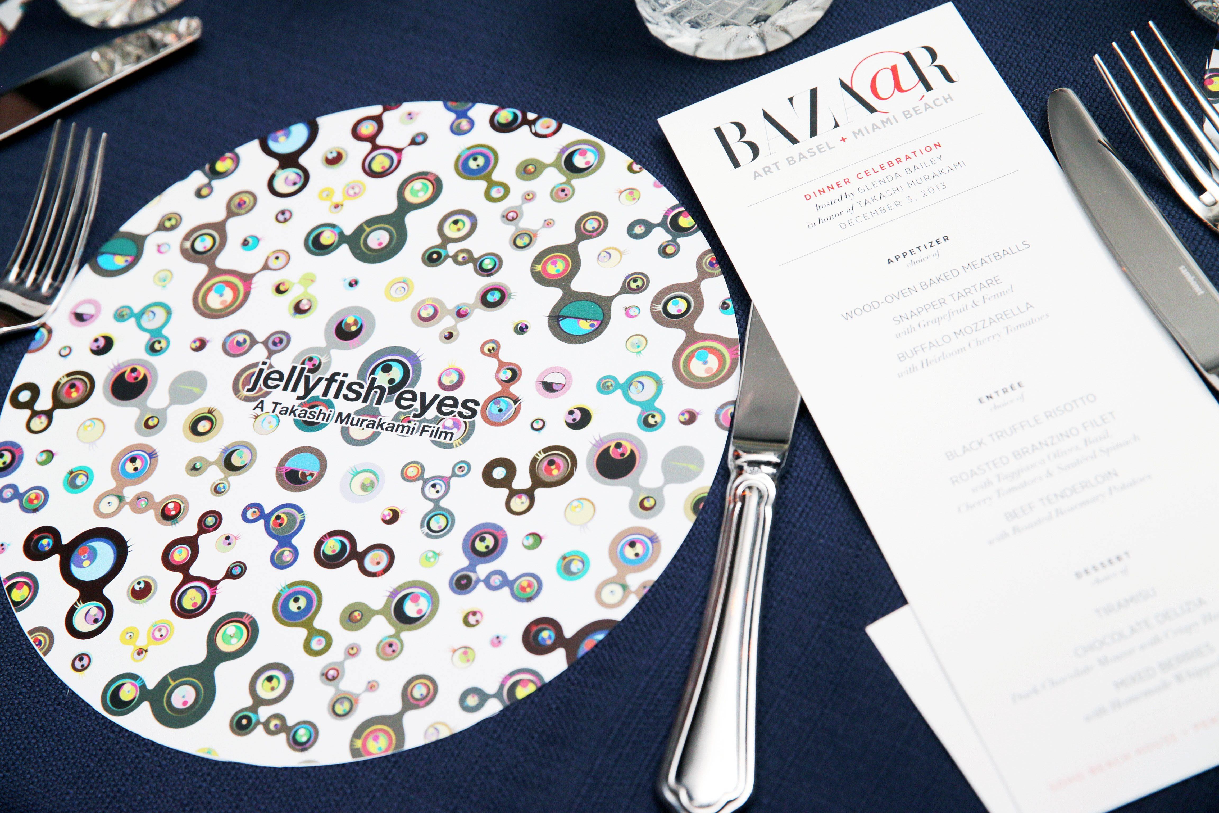 Intimate Dinner Hosted by Glenda Bailey, Editor in Chief of HARPER'S BAZAAR, Celebrating Takashi Murakami's New Film, Jellyfish Eyes at Soho Beach House