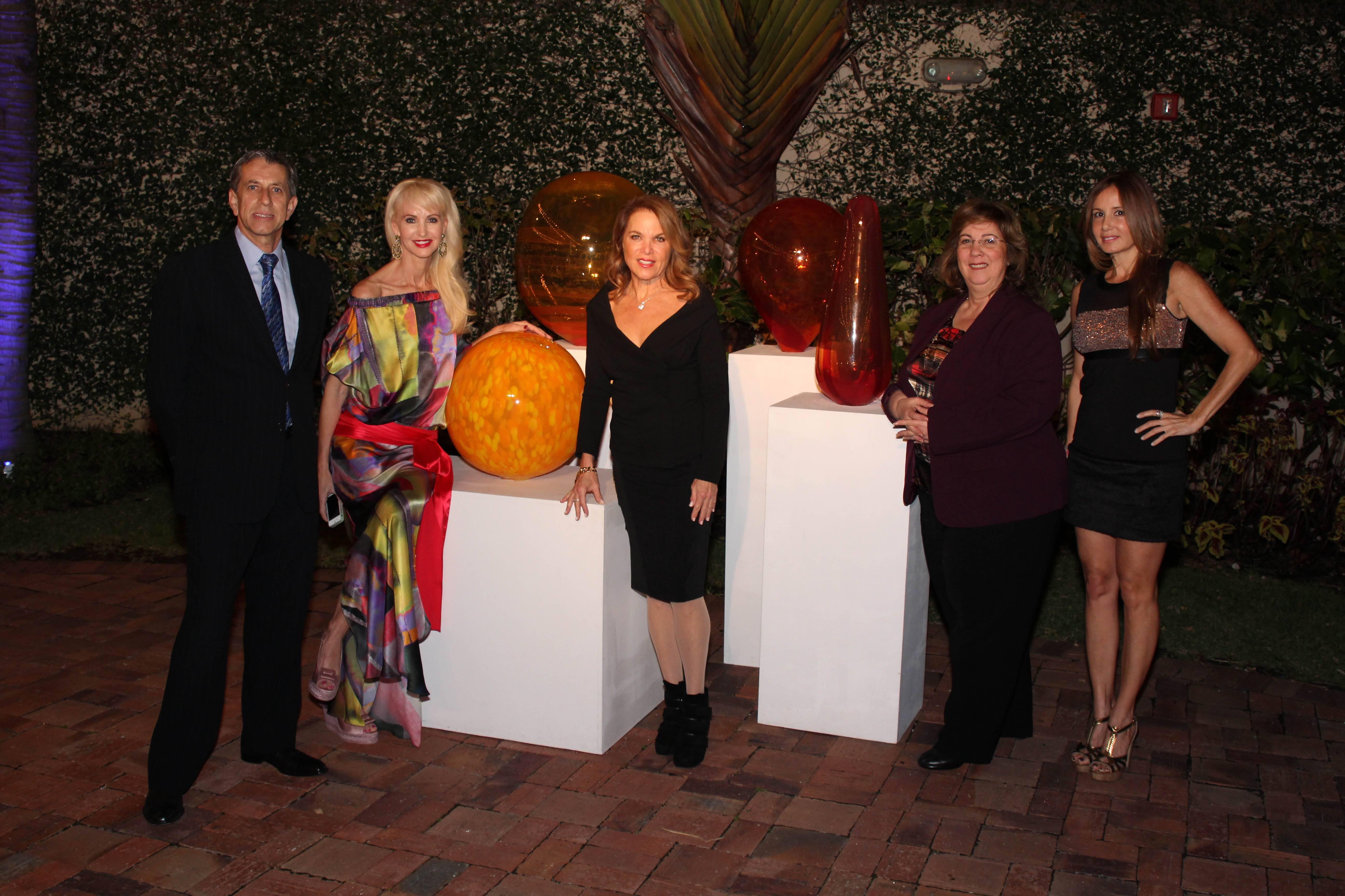 Fabian Gacia-Diaz, Katrina Peebles, Jill Elber, Nancy Klock Corey, Patricia Maurer (Scupture by Terje Lundaas, Seth Bertler Gallery)