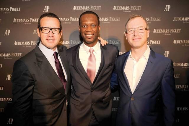 Audemars Piguet CEO Francois-Henry Bennahmias, Pras and Xavier Nolot