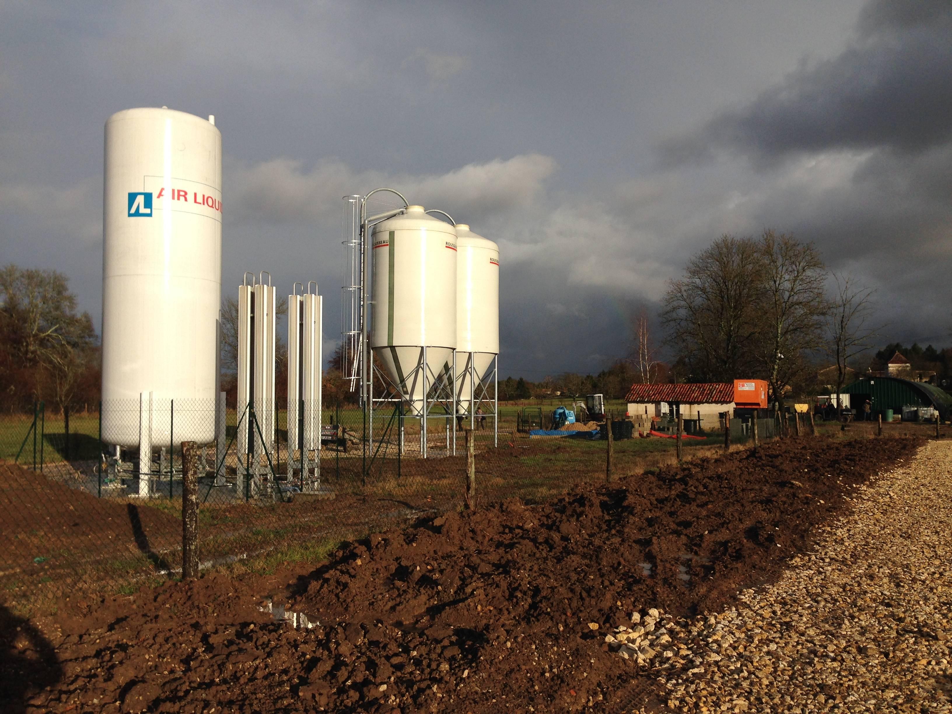 grain silos where every fancy fish food is kept
