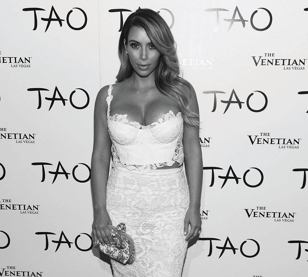 Kim-Kardashian,-B&W