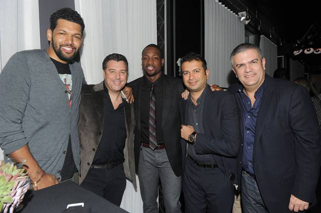Hebru Brantley, Rick De La Croix, Dwyane Wade, Kamal Hotchandani and Ricardo Guadalupe, CEO of Hublot