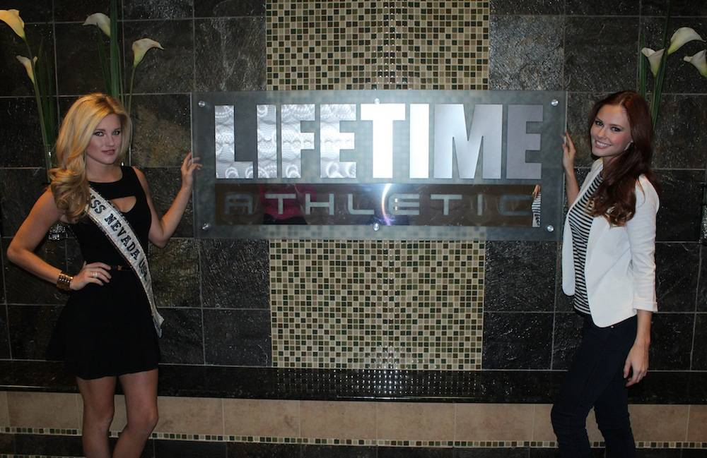 Miss Nevada USA Chelsea Caswell and Miss USA 2011 at Life Time Athletic Summerlin