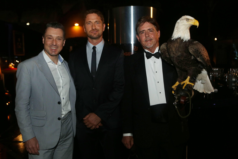 Jean-Marc Pontroue, Gerard Butler, & Bald Eagle