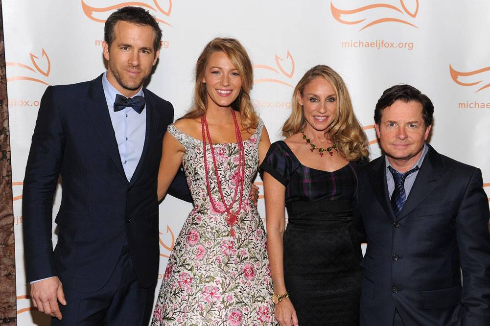 Ryan Reynolds,  Blake Lively,Tracey Pollan and Michael J. Fox