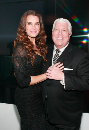 Brooke Shields and Dennis Basso