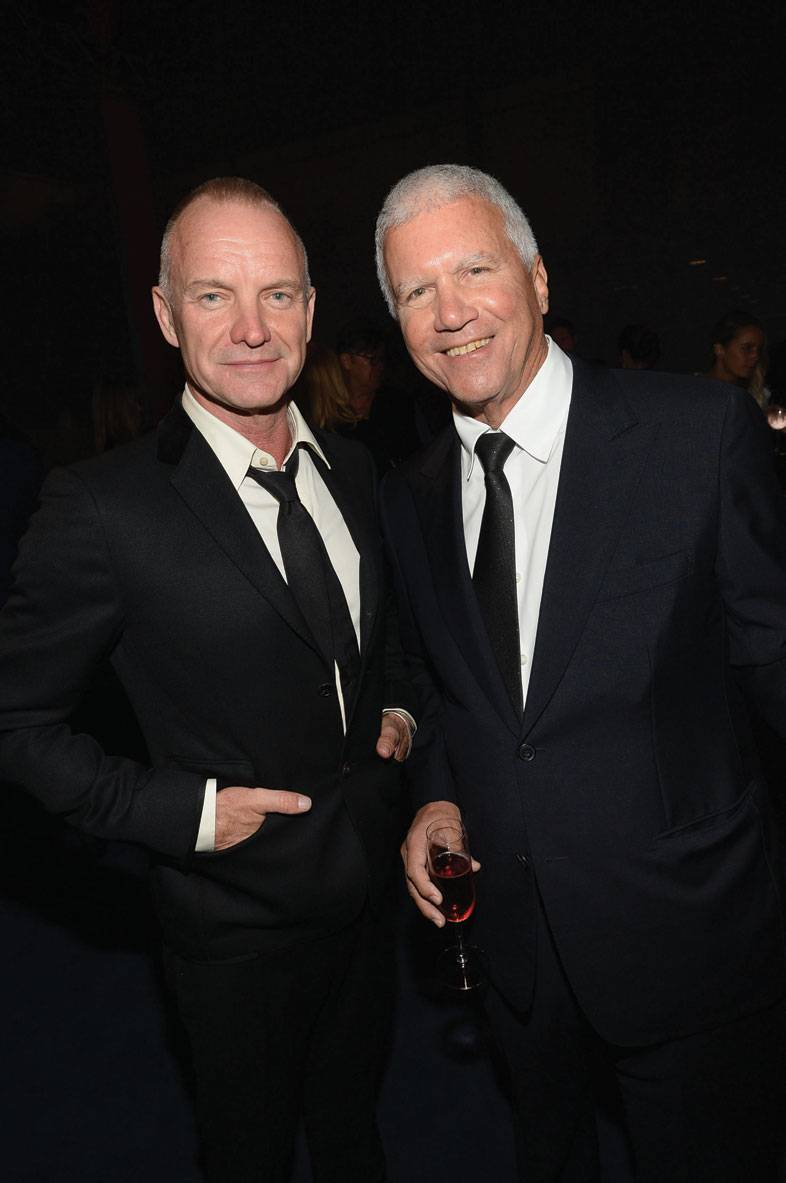Sting and Larry Gagosian