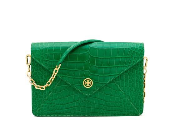 TB Robinson Envelope Clutch in Emerald (2)