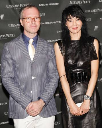 Xavier Nolot with Maggie Cheung