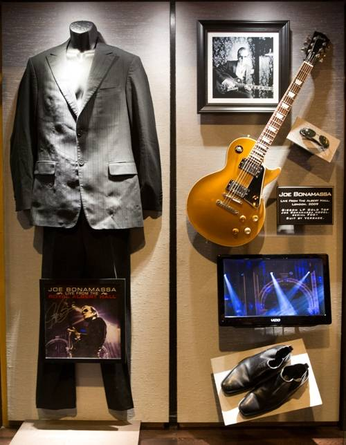01.20_Joe Bonamassa's memorabilia display_Hard Rock Hotel & Casino_Photo credit Erik Kabik