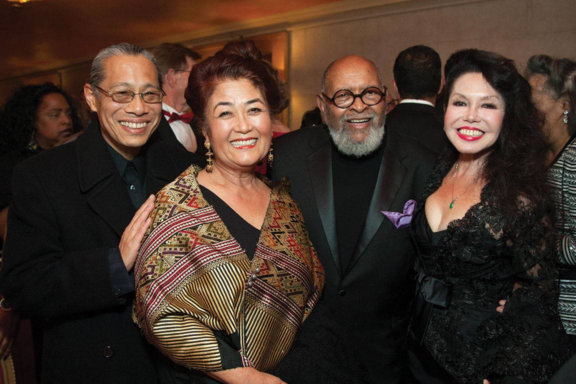 Mark Izu, Brenda Wong Aoki, Reverend Cecil Williams and  Janice Mirikitani