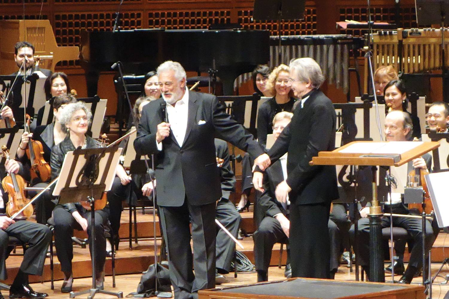Placido Domingo with Michael Tilson Thomas