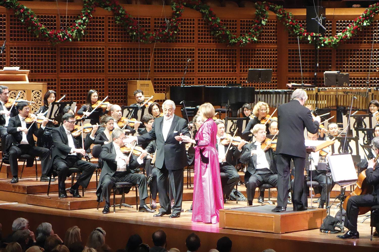 Placido Domigo and  Frederica von Stade singing a duet