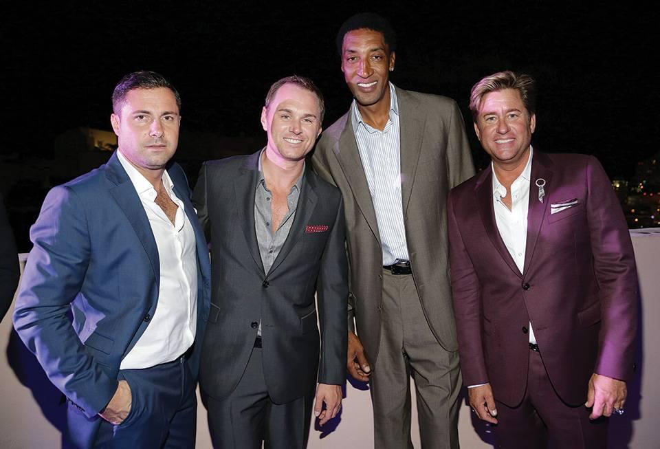 Price le Troadec, guest, Scottie Pippen, Tommy Davidson
