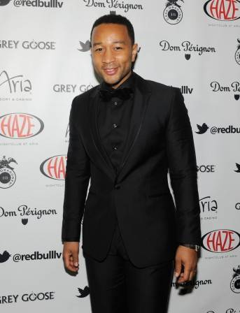 John Legend walks the red carpet at Haze. Photos: David Becker/WireImage