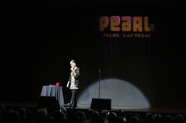 Lisa Lampanelli at the Pearl at the Palms. Photos: Edison Graff