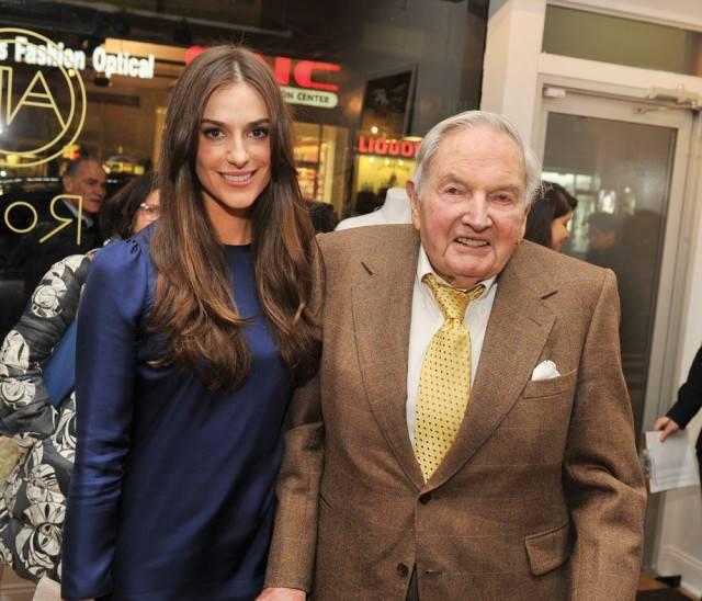 Ariana and grandfather David Rockefeller Sr.