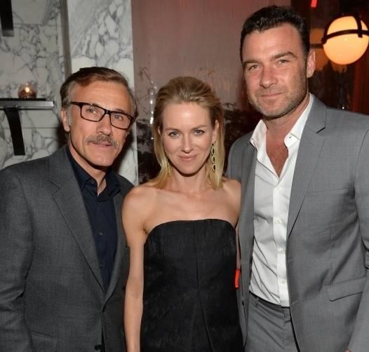 Christoph Waltz, Naomi Watts and Liev Schreiber at Audis 2014 Golden Globes party