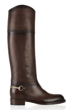 Riding boots, available at Gucci