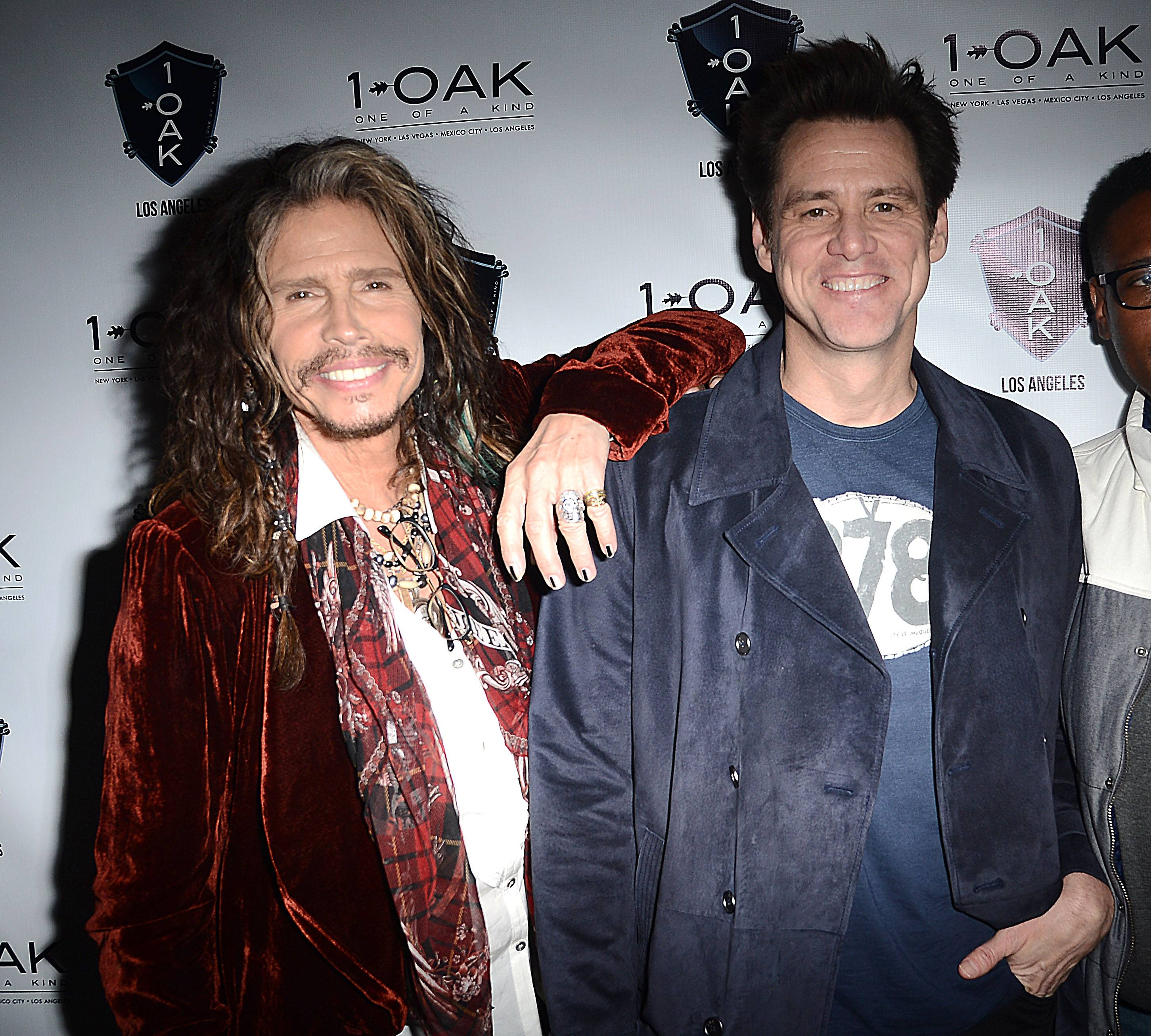 Jim Carrey and Steven Tyler. 1 OAK LA. 1.23