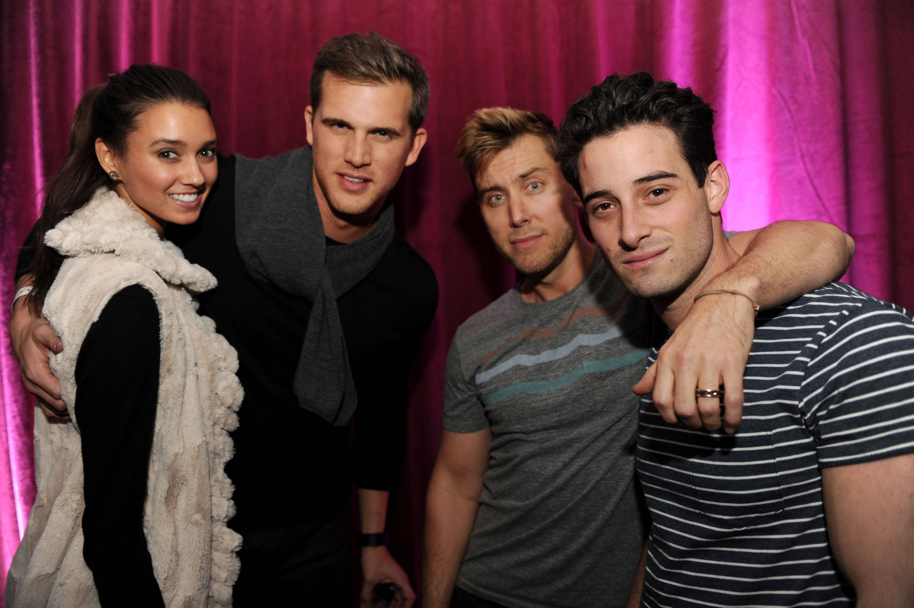 Matt Nordgren, and Lance Bass with Fiance Michael Turchin at TAO at Village at the Lift with Moet & Chandon and Stella Artois