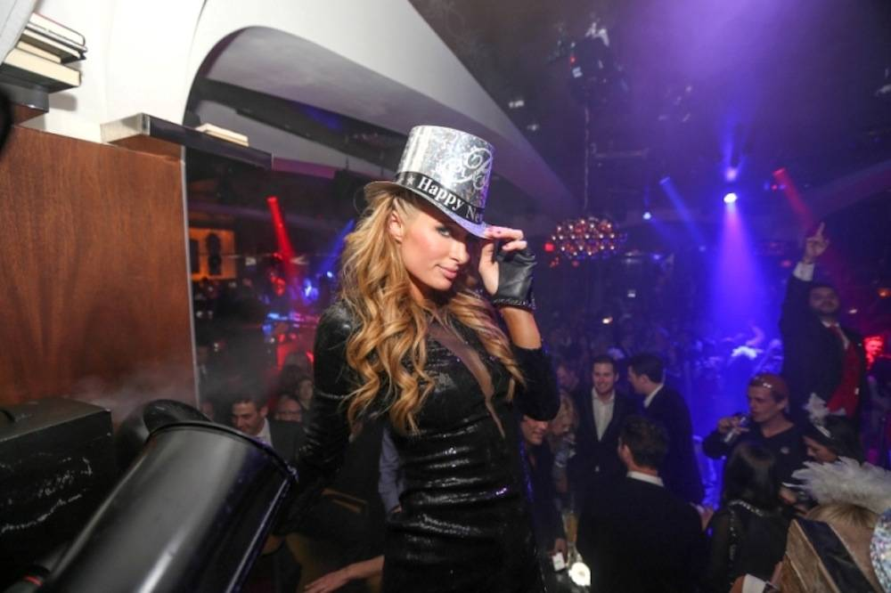 Paris Hilton Rings in 2014 at Hyde Bellagio, Las Vegas, 12.31.13 (2)