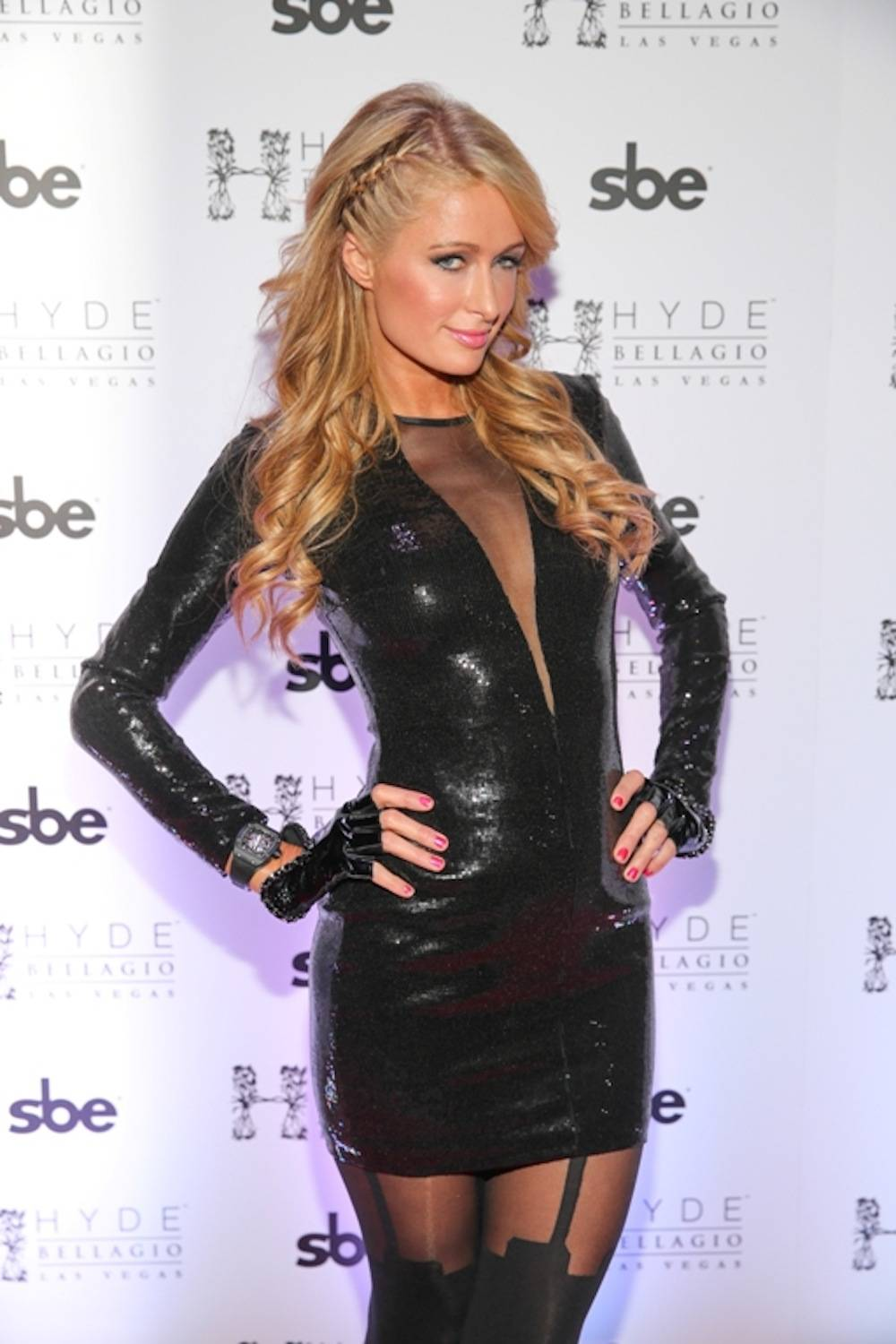 Paris Hilton Rings in 2014 at Hyde Bellagio, Las Vegas, 12.31.13