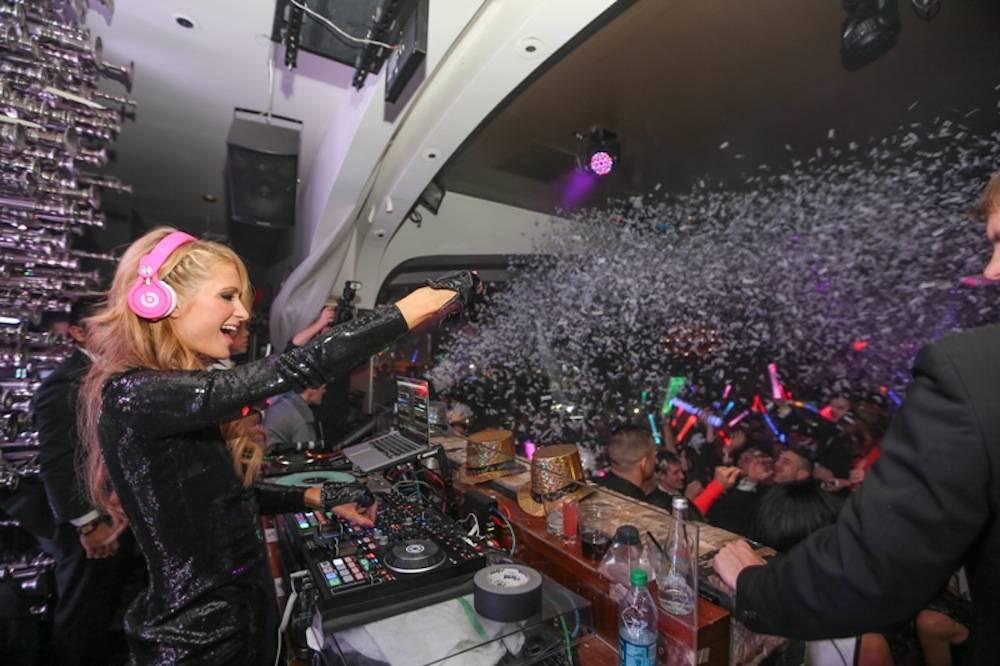 Paris Hilton Rings in 2014 w Exclusive DJ Set at Hyde Bellagio, Las Vegas, 12.31.13