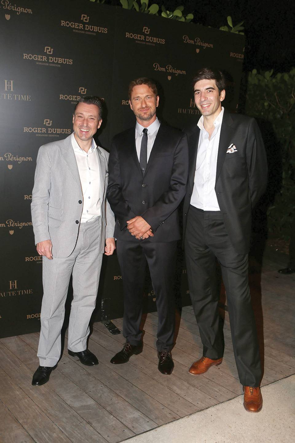 Jean-Marc Pontroué, Gerard Butler, and Gianfranco d'Attis