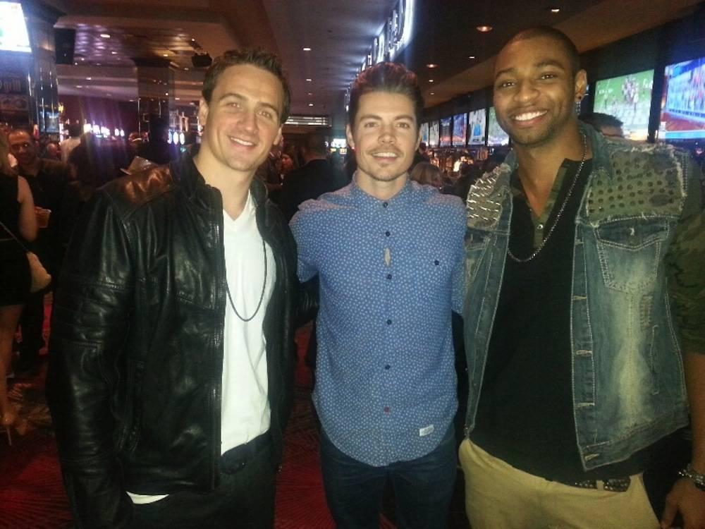 Ryan Lochte, Josh Henderson and