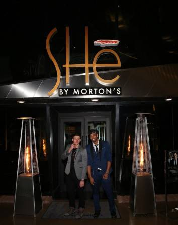 Ryan Lochte and Cullen Jones celebrate New Year's Eve at SHe by Morton's. Photos: Gabe Ginsberg/Vegas Kool