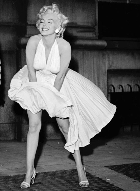 Marilyn Monroes White Dress From The Seven Year Itch Votes Most