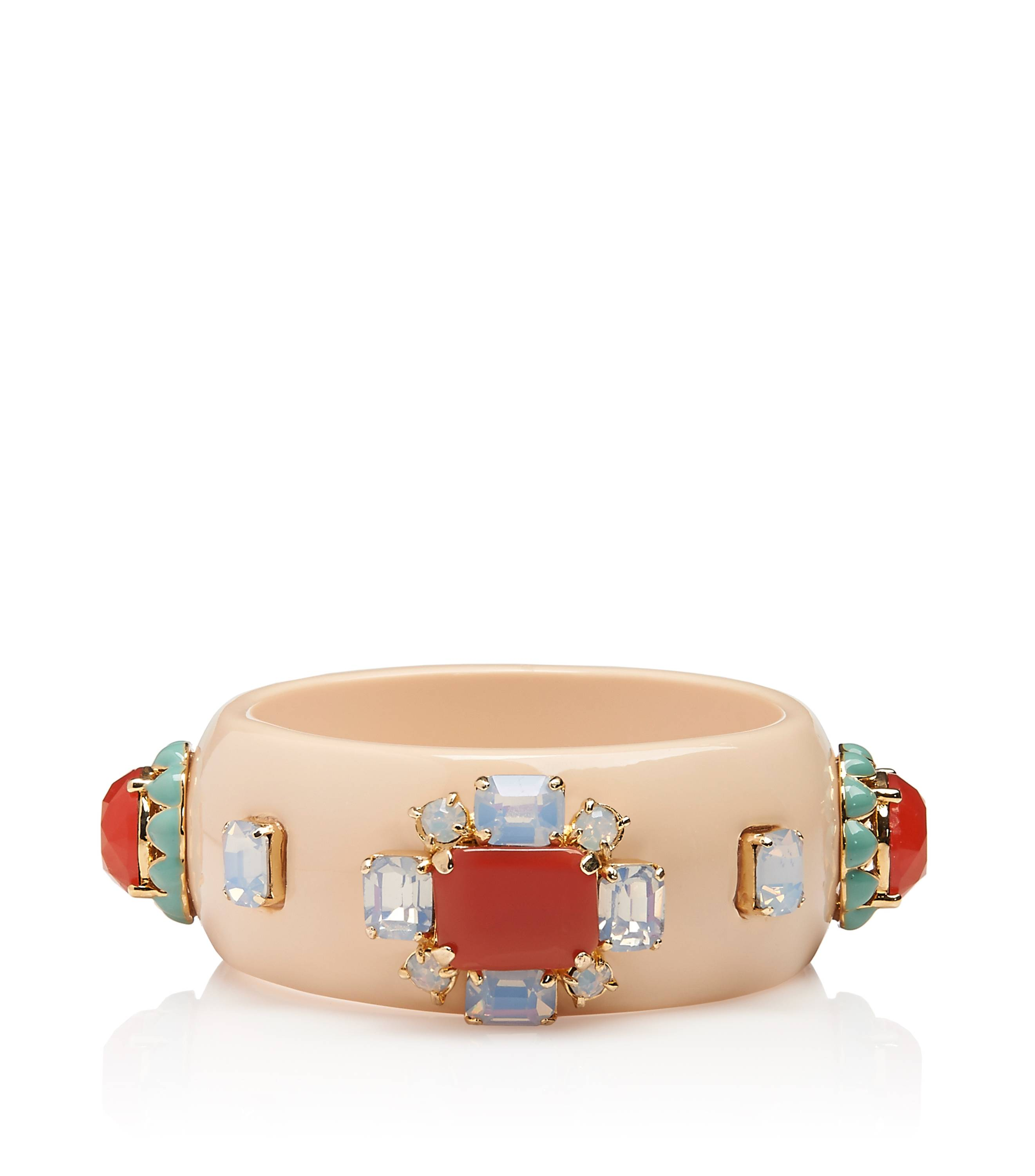 TB Coral Bangle in Coral Multi