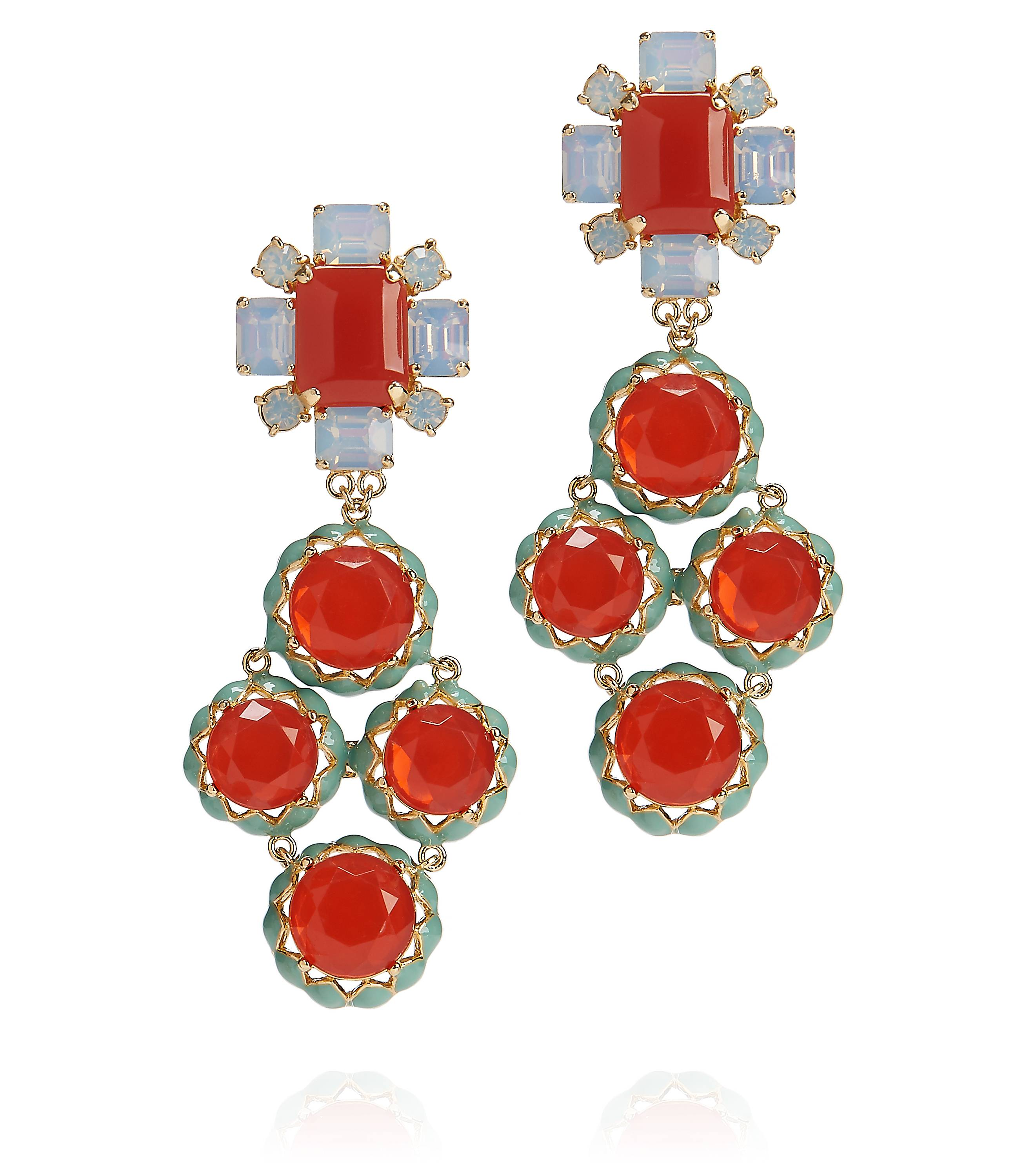 TB Rodeo Multi Coral Drop Earring in Coral  Multi