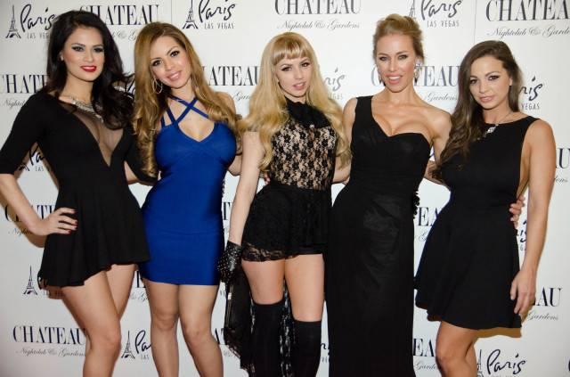 Vanessa Veracruz, Yurizan Beltran, Lexi Belle, Nicole Aniston and Abigail Mac. Photos: Karl Larson/Powers Imagery LLC