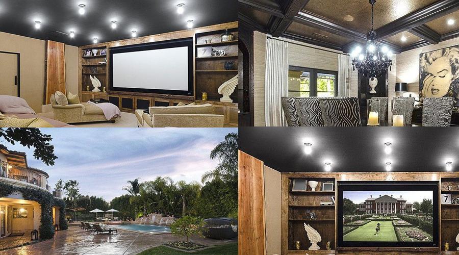 kourtney kardashian shows off whimsical home interior haute living. Black Bedroom Furniture Sets. Home Design Ideas