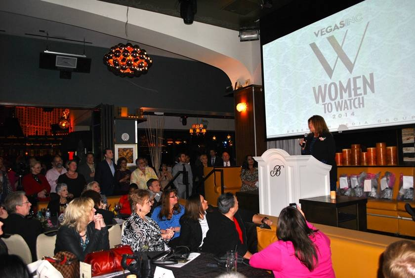 02.04.14 Terrie D'Antonio speaks at VEGAS INC's Women to Watch_photo credit Jessie Ayala