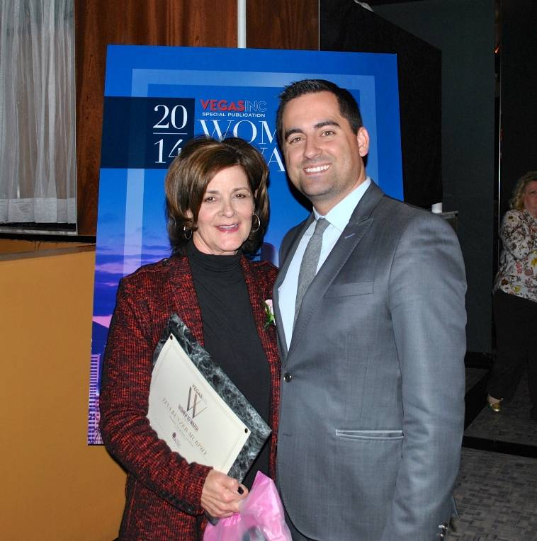 02.04.14 Tina Kunzer-Murphy and Travis Keys at VEGAS INC's Women to Watch event in Hyde Bellagio_photo credit Jessie Ayala