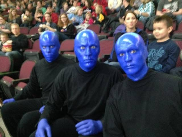 02.09.14 Blue Man Group Wins Access Health Dental's 'Smile of the Game' During Las Vegas Wranglers Match