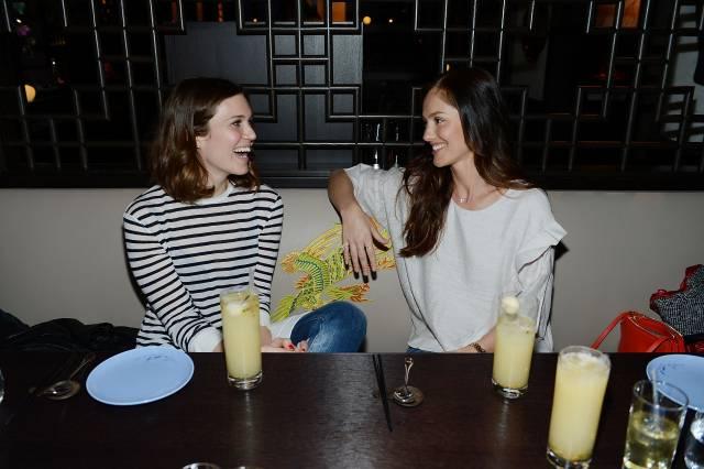 Mandy Moore and Minka Kelly enjoy dinner at Hakkasan. Photo: Denise Truscello/WireImage