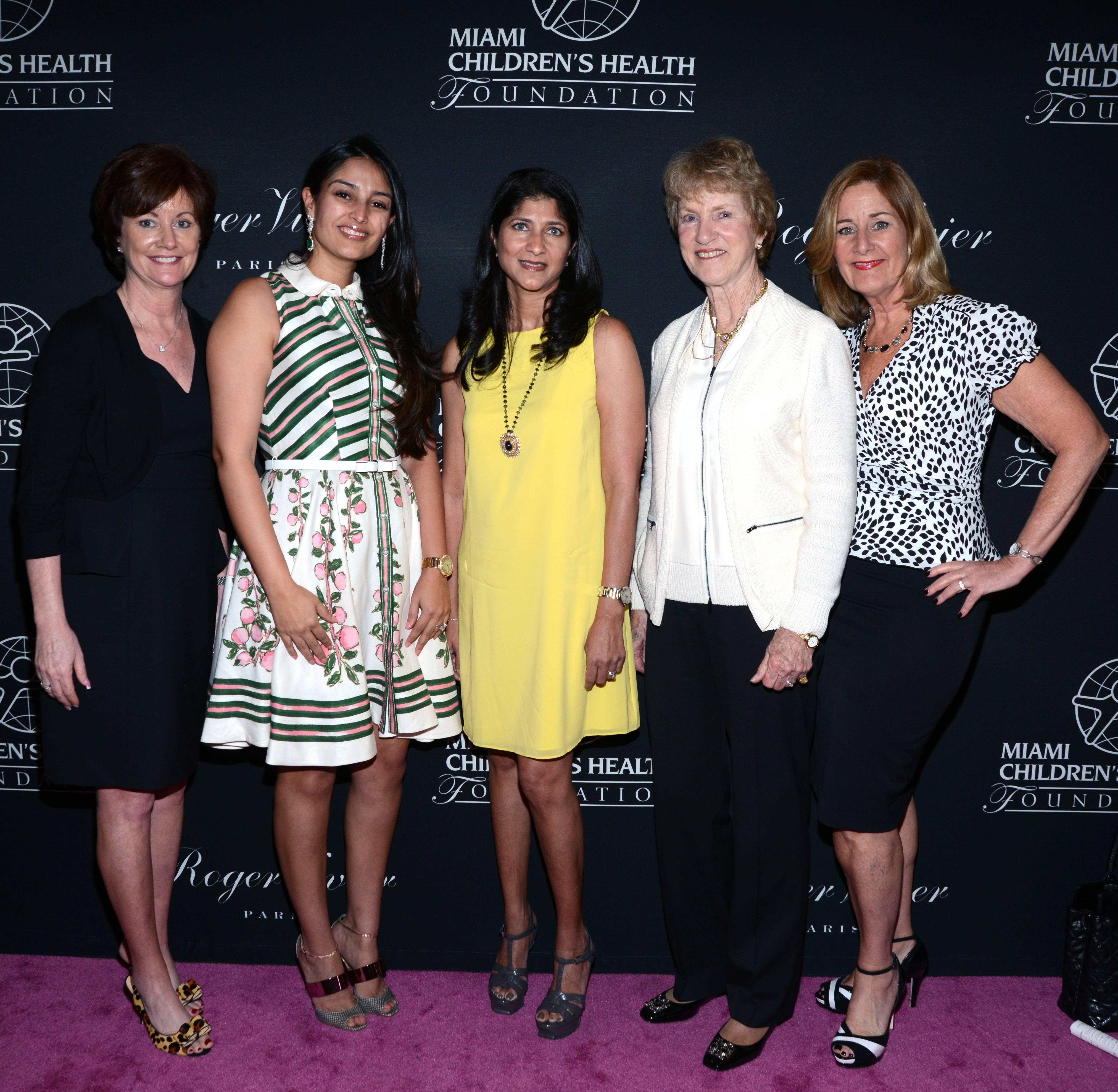 9. Patty McDonald, Ravneet Chowdhury, Dr. Rekha Kini,  Barbara Nicklaus and Nancy Humbert