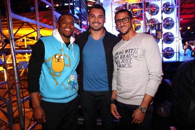 Back Stage- Cam Newton, Colin Kaepernick & NFL player Joseph Fauria