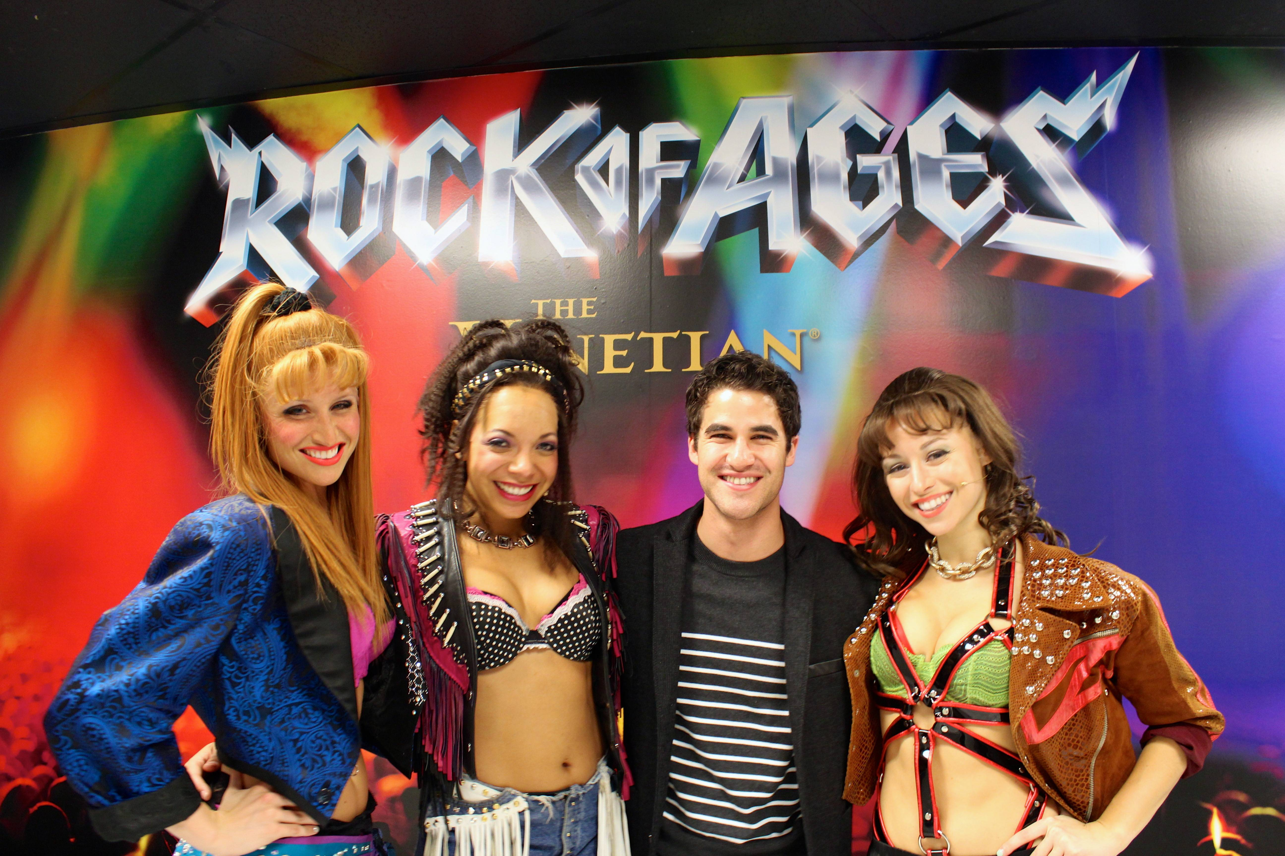 Darren Criss with Becca Kotte, Celina Nightengale and Kristen Paulicelli